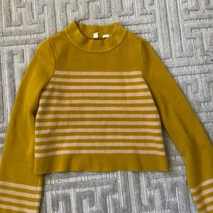 mustard retro sweater